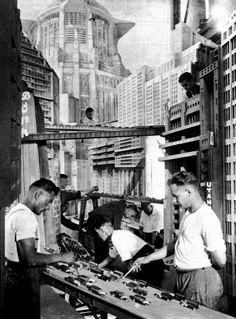 I love a good model shot.     http://www.retronaut.co/2012/03/behind-the-scenes-of-metropolis-1925-1926/