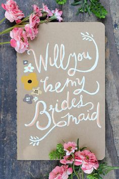Will you be my Bridesmaid Mini Notebook