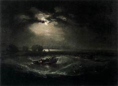 Joseph Mallord William Turner  --  Fishermen at Sea