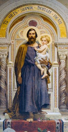 Joseph, terror of demons, protector of virgins, head of the Holy Family. St Joseph Catholic, Catholic Art, Catholic Saints, Roman Catholic, Jesus Christ Images, Jesus Art, Catholic Pictures, Jesus Pictures, Christian Images