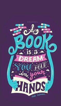 O livro é um sonho que está em suas mãos!📖
