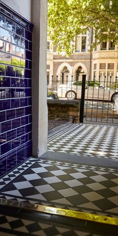 Celebrated volunteered porch design sunglasses Check Out Your URL Victorian Front Garden, Victorian Porch, Edwardian House, Victorian Homes, Hall Tiles, Tiled Hallway, Hallway Walls, Victorian Hallway Tiles, Edwardian Hallway