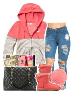 """""""."""" by clinne345 ❤ liked on Polyvore featuring Hollister Co. and UGG Australia"""