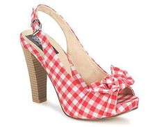 red gingham shoes for a picnic wedding