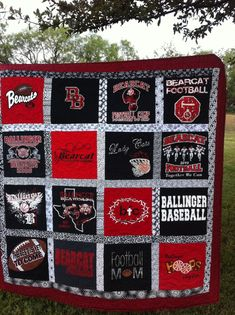"""T-shirt Memory quilt made from your 20 tshirts, lap size quilt approximately 63"""" x 73"""" on Etsy, $225.00"""