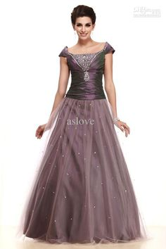 Graceful Fashion Beading Taffeta Tulle Cap Sleeve A-line Mother of the Bride Dress M211. DH Gate $141 USD shipping included into Mexico with FedEx.