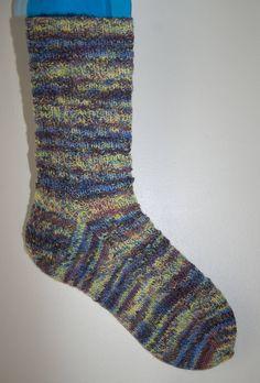 Handknitted Socks in Variegated Yarn by KnitterScarlet on Etsy