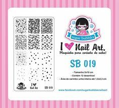 Placa de Stamping Sugar Bubbles SB 019