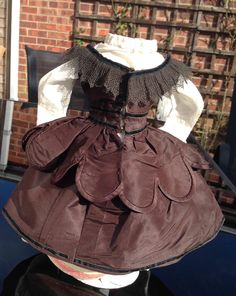1860s Enfantine style outfit for early Fashion Doll