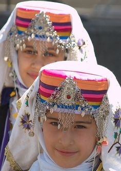 Young Turkish girls in traditional dress