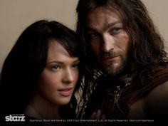 #ErinCummings as #Sura and #AndyWhitfield as #Spartacus - #Spartacus:  #BloodandSand