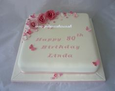 Pretty in pink 80th birthday cake
