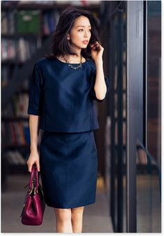 New Basic - great for petite frame Chic Office Outfit, Office Fashion, Work Fashion, Fashion Pants, Daily Fashion, Fashion Beauty, Fashion Looks, Womens Fashion, Fashion Design