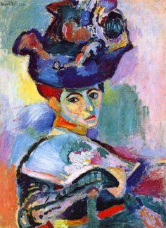 Henri Matisse, DONNA CON CAPPELLO, 1905, 31 cm x 24 cm, Colore ad olio, Museum of Modern Art, San Francisco