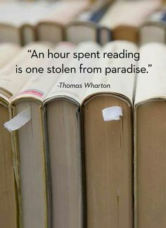 An hour spent reading is a gift...