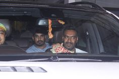 Ajay Devgn snapped at the special screening of his film Raid