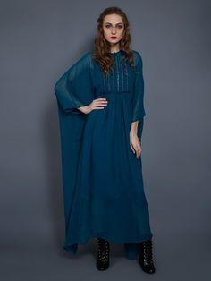 Emerald Georgette Kaftan By Ritu Jain Singh