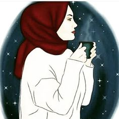 My first cupbof coffee my love I wish you were here jaanu darling so we could both enjoy together our cup of coffee like we have every morning since we married my darling husband 🧕🏻🧔🏻💞🌳🏡🌳🌿🌺🌺🌿🌺🌺🌿🌺🌺🐕🐈🐾🐾🐾☀️ Lovely Girl Image, Girls Image, Muslim Girls, Muslim Couples, Hug Gif, Hijab Drawing, Anime Muslim, Hijab Cartoon, Girls Dp Stylish
