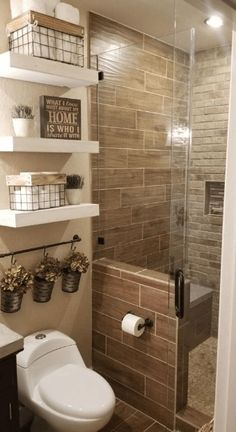 Stunning Small Bathroom Makeover Ideas That Trendy Now 41 Bathroom Design Small, Small Bathrooms, Bathroom Ideas, Budget Bathroom, Master Bathroom, Bathroom Organization, Bathrooms Decor, Stone Bathroom, Gold Bathroom