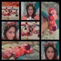Fresh flower halo.... Bridal flower jewellery
