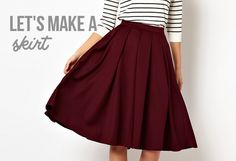 8 easy steps to a killer DIY skirt Diy Circle Skirt, Circle Skirt Tutorial, Make A Skirt, Sew A Skirt, Pleated Skirt Tutorial, Pleated Skirt Pattern, Circle Skirts, Midi Skirt, Simple Skirt Pattern