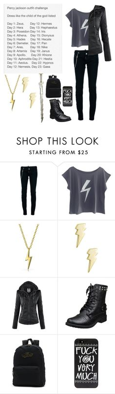 """Percy Jackson Outfit Challenge - Day 1 - Zeus"" by insane-alice-madness ❤ liked on Polyvore featuring Dsquared2, The Vintees T-Shirts Co., Bling Jewelry, Jewel Exclusive and Vans"