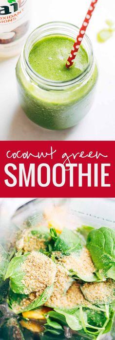 Simple Coconut Green Smoothie #flavorlife #drinkbai AD