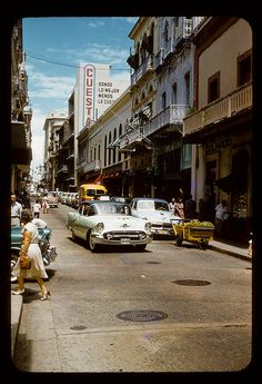 Calle Fortaleza, Old San Juan in the 1950's. This was how SJ looked when my parents were kids...