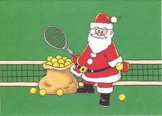 santa & tennis