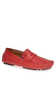 Men's Robert Zur 'Hans' Woven Leather Driver Shoe