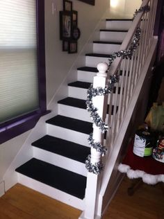 Love the dual colored stairs! -easy touch ups!
