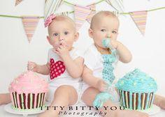 Itty Bitty You Photography: Banks Twins { Cake Smash }