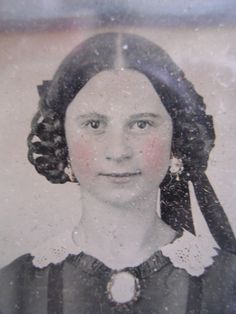 1850's 1 6 Plate Girl from New Jersey Estate Ambrotype Photo Perfectly Preserved | eBay