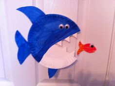 Food chain Paper Plate Fish, Paper Plate Crafts, Paper Plates, Dinosaur Stuffed Animal, Chain, Toys, Party, Inspiration, Biblical Inspiration