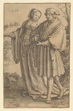 """""""The Promenade"""". Lucas van Leyden (Netherlandish, 1494–1533), Date: 1520."""