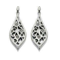 Allegory - Swarovski Elements with Black Diamond Filigree Earrings