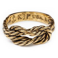 Antique Gold Sailor Knot Ring ($38) ❤ liked on Polyvore featuring jewelry, rings, accessories, knot ring, anchor ring, anchor jewelry, sailor jewelry and antique gold jewelry