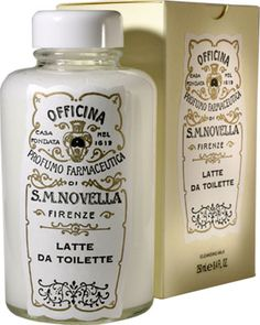 Santa Maria Novella Cleansing Milk. This delicate cleansing milk gently removes make-up and skin impurities and leaves skin feeling soft and supple. Completely safe for the fragile area around the eyes, this milk contains coconut oil and citrus extract as its principal ingredients. Apply with cotton or lightly massage with fingertips. For best results when removing, use cotton dipped in Rose Water for dry skin types or Orange Flower Water for oily skin types.