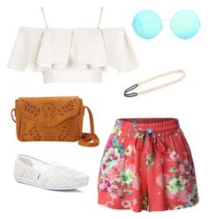 """""""Coachella Chic"""" by aegreen23 on Polyvore featuring Topshop, LE3NO, Victoria Beckham, TOMS and Tasha"""