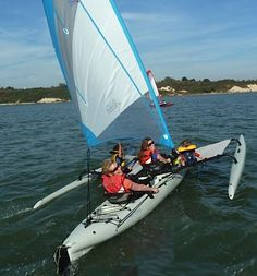 Note mast and the ratio of leading edge to sail area. Sailing Kayak, Kayak Boats, Canoes, Best Fishing Kayak, Kayak Camping, Canoe And Kayak, Cool Boats, Small Boats, Hobie Tandem Island