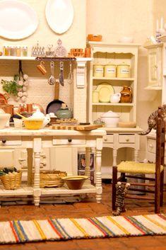 Nukkekodin kuudes huone. Dollhouse kitchen