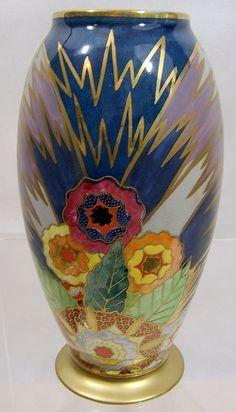 Carlton Ware Art Deco Enamelled Vase 'Eden' - Google Search