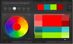 ColorScheme Designer - AWESOME TOOL FOR TEACHING COLOUR THEORY! MUST USE! Complementary, Split-Complentary, Analogous, Accented Analogous