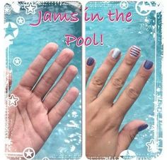 Jamberry nails vs water!  #durable #amazing #diynails #cute nails
