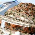 :I Feta-Stuffed Turkey Meatloaf with Tzatziki Sauce-low carb- different.  Could possibly use less meat and more feta.  Also don't add lots of lemon to hand tzatziki sauce!