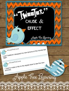 TWITTER inspired lessons and activities for improving comprehension - cause and effect!