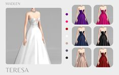 Sims 4 Toddler Clothes, Sims 4 Mods Clothes, Sims 4 Clothing, Sims Mods, Sims 4 Cc Skin, Sims 4 Mm Cc, Sims 4 Wedding Dress, Wedding Dresses, Sims 4 Gameplay