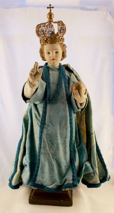 Antique Infant Jesus of Prague Statue by NotreDameDeParis on Etsy, $450.00