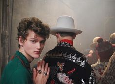 calichele:  Christopher Paskowski & Reid Rohling | backstage at Gucci FW16…