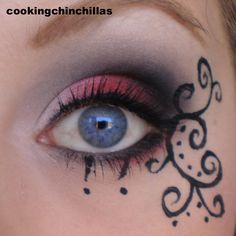 Red and Black extravagant Makeup
